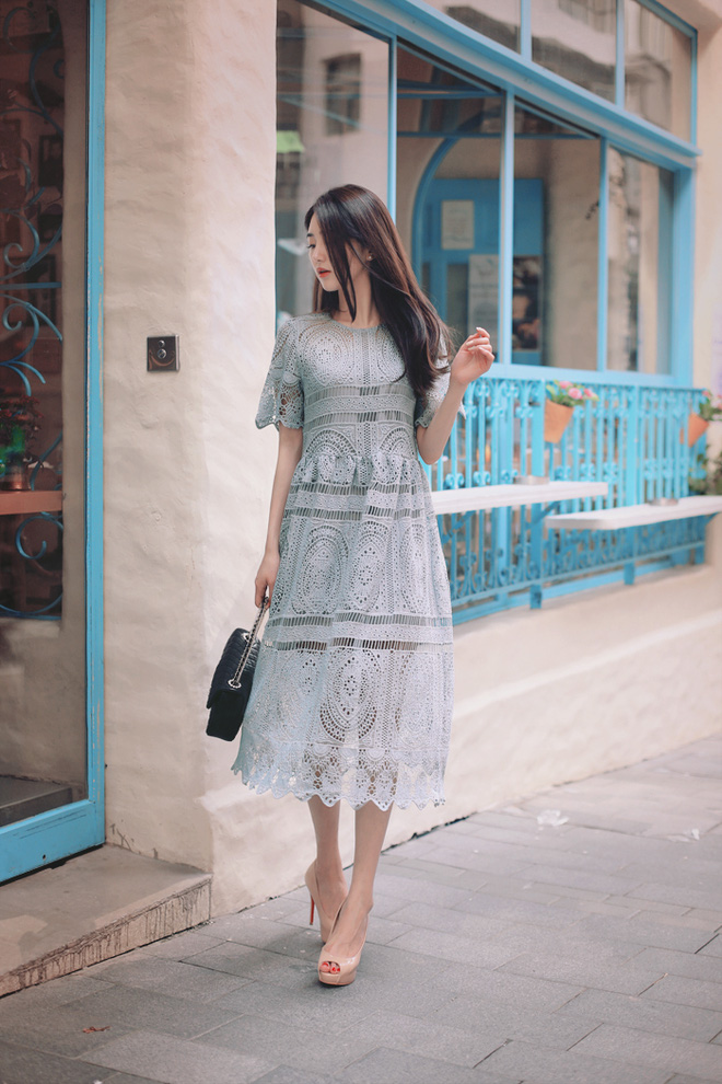 váy ren màu sắc