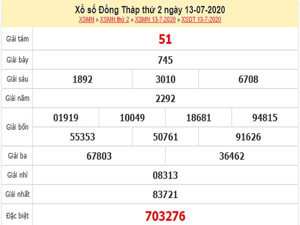 Bảng KQXSDT- Soi cầu xổ số đồng tháp ngày 20/07 chuẩn xác