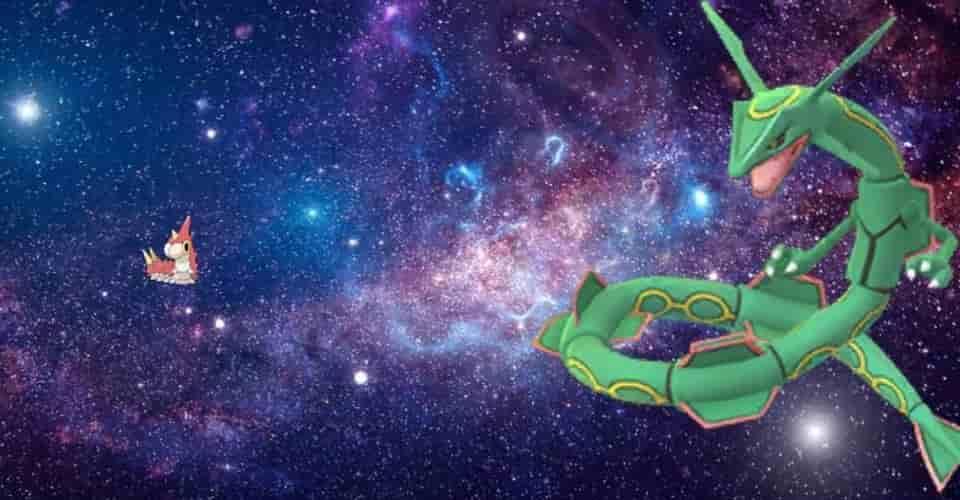Pokemon Fan Art kết hợp Wurmple và Rayquaza